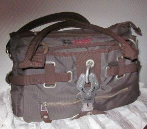GG&L George Gina&Lucy Studio Handtasche Henkeltasche Tasche Bag Shopper braun 2 Henkel Reißverschluss