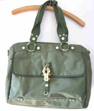 George Gina & Lucy Bag olive green-gold-colored nylon