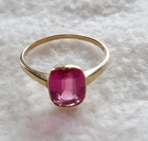 Gold Ring gold-colored-pink real gold