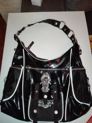 GGL-  Damen/Lack-Tasche in Schwarze Farbe