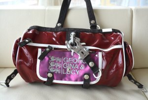 GGL George Gina Lucy California Roll Lackleder Bordeaux Weinrot NP 190 eur