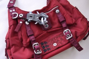 GGL George Gina Lucy MOSCowgirl rot weinrot bordeaux NP 129 eur Saddle Satteltasche Schloss Karabiner