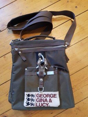 GGL George Gina & Lucy Ride the Donkey Tasche Olivgrün/Braun