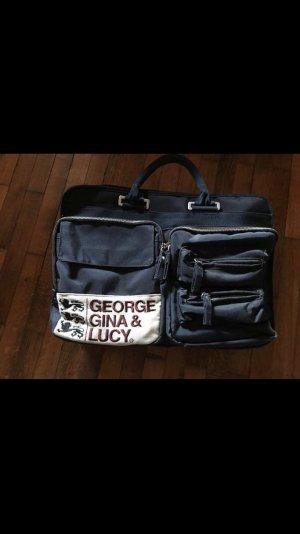 George Gina & Lucy Bolso estilo universitario azul oscuro