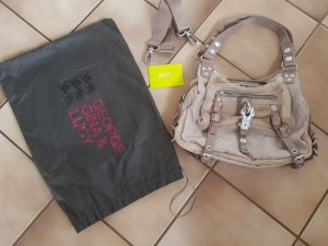 George Gina & Lucy Handbag beige-khaki nylon