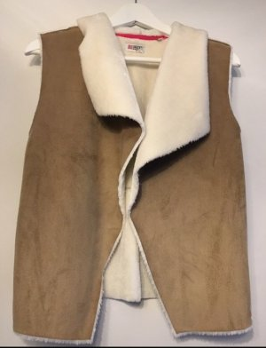 George Gina & Lucy Fake Fur Vest beige-white polyester