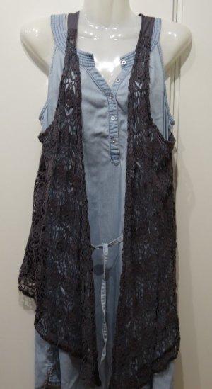 Ghost of Harlem Japan asymmetrische Weste free-size taupe Boho Hippie Mori Girl