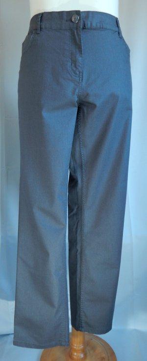 Giada,große Größen,5 Poket Hose,niedrieger Bund,beschichtet,mausgrau,Gr. 50