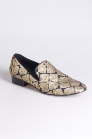 Giambattista Valli Slipper schwarz-gold
