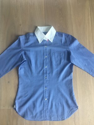 Giampaolo Camisa de manga larga azul