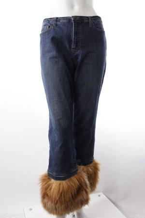 Gianfranco Ferré 7/8-Jeans mit Fake Fur-Besatz