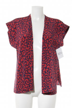 Gianfranco Ferré Cardigan rot-dunkelblau abstraktes Muster Casual-Look