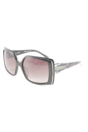 Gianfranco Ferré eckige Sonnenbrille anthrazit-schwarz Street-Fashion-Look