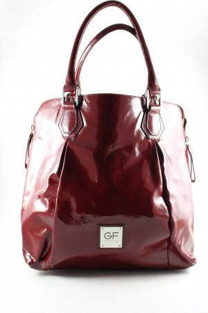 Gianfranco Ferré Carry Bag brown red leather-look