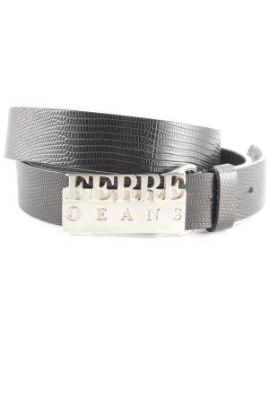 Gianfranco Ferré Cintura di pelle nero stile casual