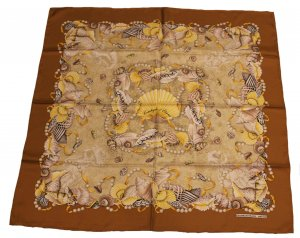 Gianfranco Ferré Silk Cloth brown-oatmeal silk