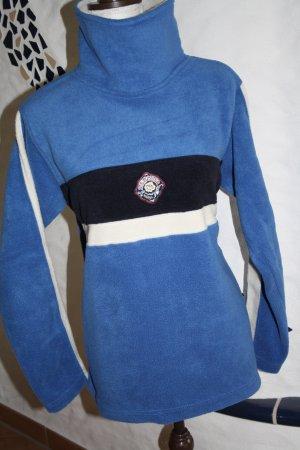 Giani Feroti Fleecepulli / Fleecepullover mit Rollkragen / blau-weiss-schwarz / Gr. M (38) / wie NEU !