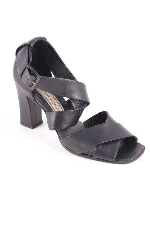 Gianmarco Lorenzi Sandaletten schwarz klassischer Stil