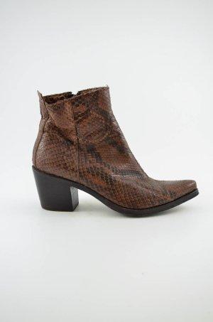 Botines estilo vaquero marrón-negro Cuero