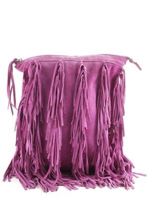 Gianni chiarini Borsa con frange rosa stile casual