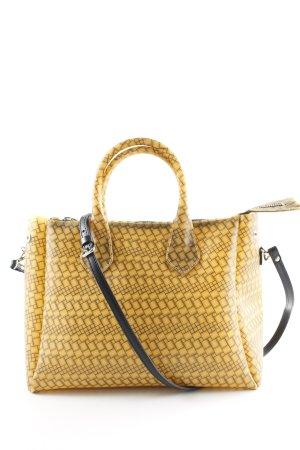 Gianni chiarini Handtasche dunkelgelb grafisches Muster extravaganter Stil