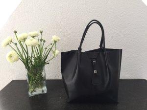Gianni chiarini Shopper black-silver-colored leather