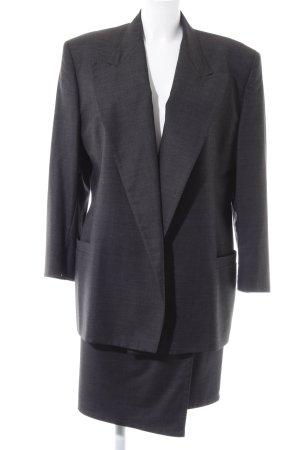 Gianni Versace Tailleur gris foncé moucheté style d'affaires