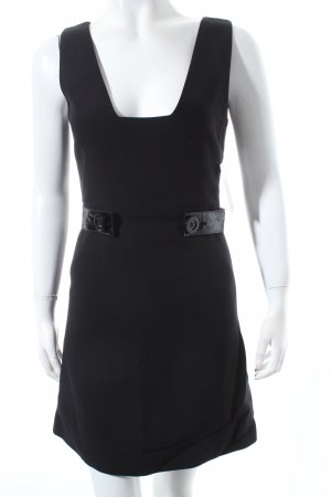 Gianni Versace Minikleid schwarz Materialmix-Look