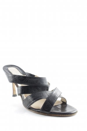 Gianni Versace Strapped High-Heeled Sandals black business style