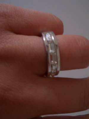 Gianni Versace Ring mit Baguette Krystallen
