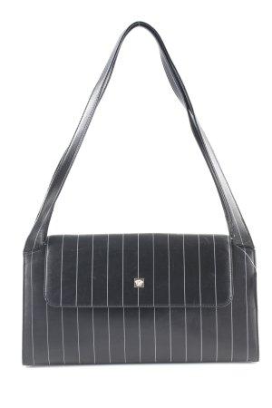 Gianni Versace Schultertasche schwarz Streifenmuster Casual-Look
