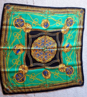 Gianni Versace Silk Scarf multicolored silk