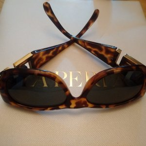 Gianni Versace Retro Glasses bronze-colored-camel synthetic material