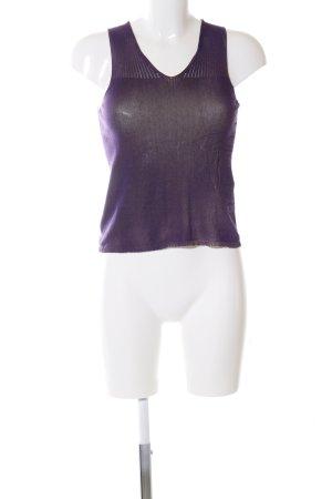 Gianni Versace Top lavorato a maglia lilla stile casual