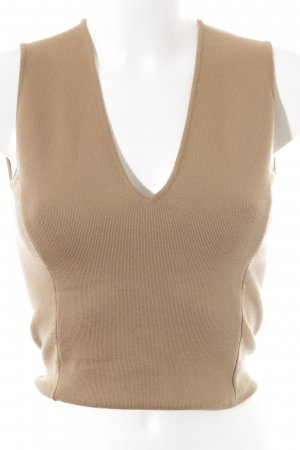 Gianni Versace Knitted Top light brown simple style