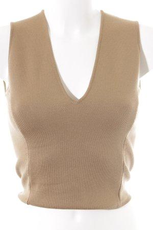 Gianni Versace Top lavorato a maglia marrone chiaro stile semplice