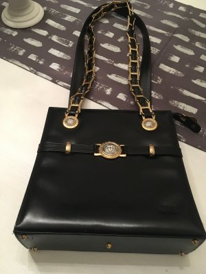 Gianni Versace Handbag black leather