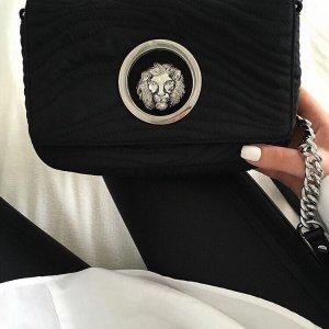 Versace Borsa a spalla nero-argento