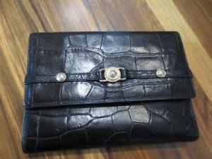 Gianni Versage Geldtasche, schwarz, echtes Krokoleder, wie neu