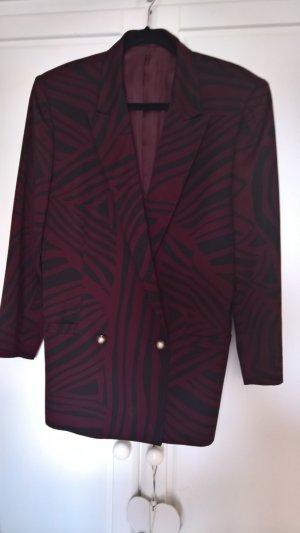 Gianni Versace Boyfriend blazer paars-zwart Scheerwol