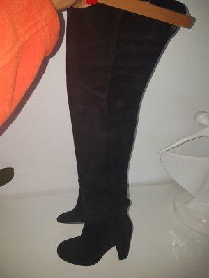 Gianvito rossi Overknees black leather