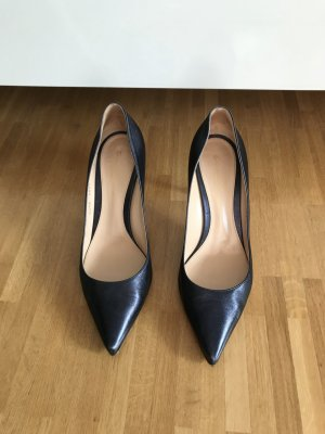Gianvito Rossi 85 Pumps Dunkelblau Metallic