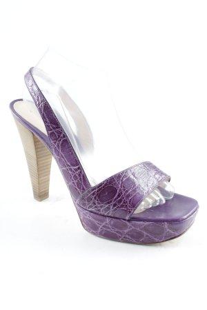 Gianvito rossi High Heel Sandaletten dunkelviolett-camel Elastikeinsätze