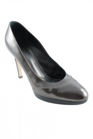 Gianvito rossi High Heels grey brown metallic look