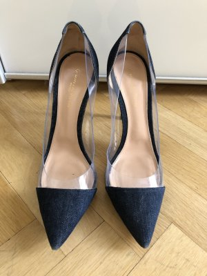 Gianvito Rossi Pumps Gr. 41 Denim dunkelblau