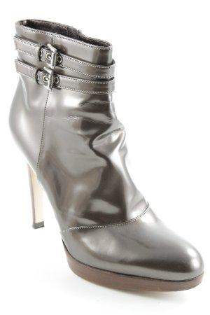 Gianvito rossi Reißverschluss-Stiefeletten bronzefarben Street-Fashion-Look