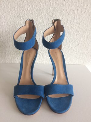 Gianvito rossi High Heel Sandal steel blue suede