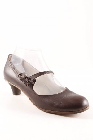 gidigio Mary Jane pumps donkerbruin elegant
