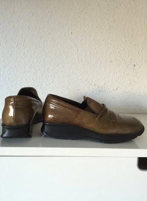 Gidigio Schuhe - Gr.37 - Gold, Schwarz, Plateau, Slipper, trendy, Plateauschuhe