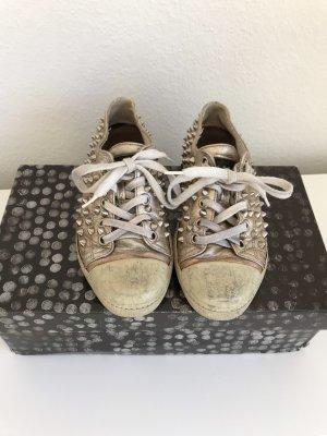 Gienchi Designer Sneaker Gold Metallic mit Nieten besetzt Gr. 39 - nur wenige Male getragen!
